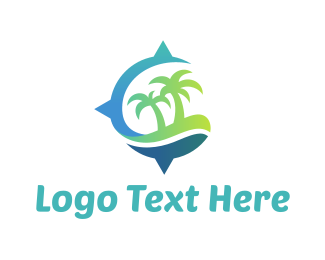 Explorer - Island Compass logo design