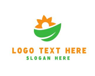 Sunflower - Leaf & Sunflower logo design