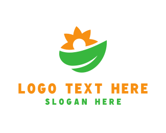 Salad - Leaf & Sunflower logo design