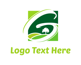 Horizon - Green Fields logo design