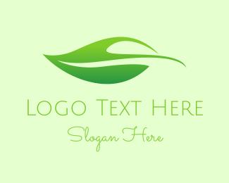 Salad - Organic Leaf logo design