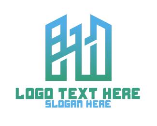 Structure - Modern Geometric Buildings logo design