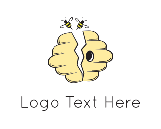 Honey - Yellow Beehive logo design