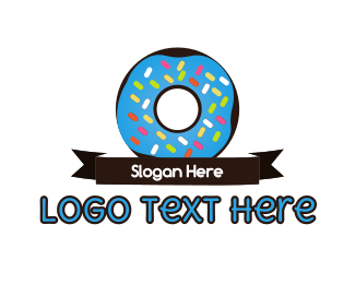 Sweets - Donuts & Ribbon logo design