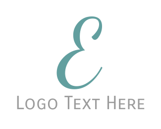 Traditional - Elegant Blue Letter E logo design