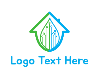Home - Smart Home logo design