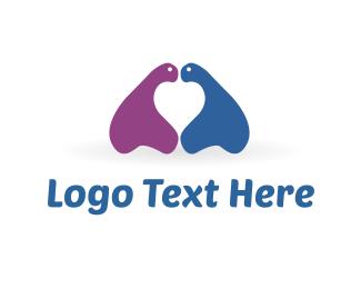 Relationship - Blue & Purple Monsters logo design