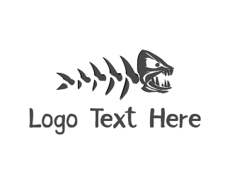 Angry - Fish Monster logo design