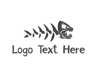Bone - Fish Monster logo design