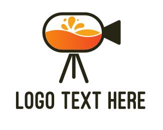 Orange Juice - Fresh Film logo design