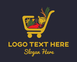Supermarket - Grocery Store logo design
