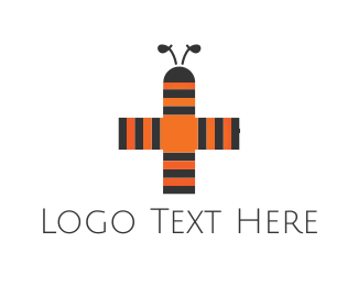 Hospital - Bee Cross logo design