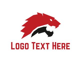 Furious - Red Lion logo design