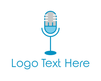 Plug - Electric Microphone logo design