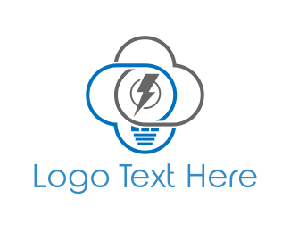 Electricity - Electrical Cloud logo design
