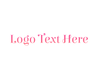 Curly - Pink  & Curly  logo design