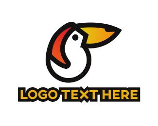 Toucan - White Toucan  logo design
