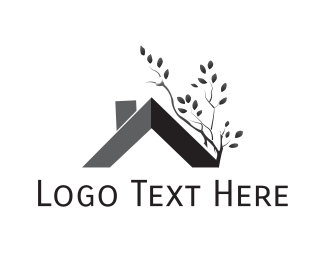 Yard Care - Roof & Tree logo design
