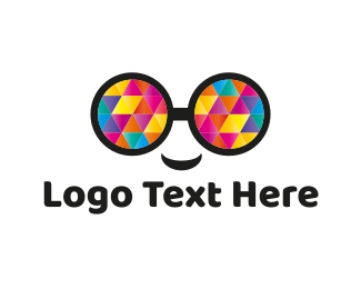Fun - Colorful Eyeglasses logo design