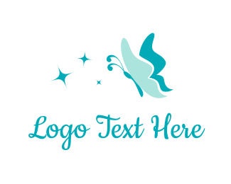Insect - Butterfly & Stars logo design
