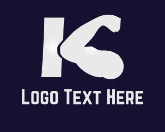 Powerful - K Fitness logo design