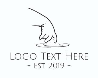 Lagoon - Baby Hand logo design