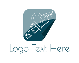 Car - White Car logo design