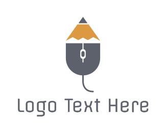 Blog - Mouse Pencil  logo design