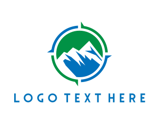 Hill - Mountain Compass logo design