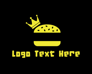 Hamburger - King Burger logo design