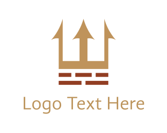 Brick - Castle & Construction logo design