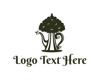 Herbal Tea - Tea Tree logo design