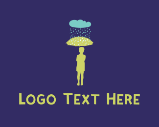Winter - Rain & Umbrella logo design