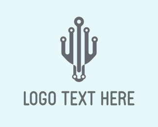 Squid - Robotic Octopus logo design