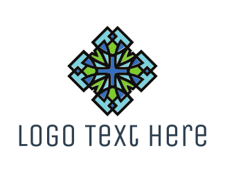 Symbol - Blue Green Art logo design