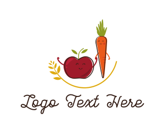 Friend - Apple & Carrot  logo design