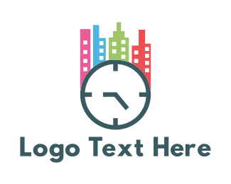 Minute - City Clock logo design