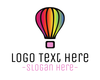 Gay - Rainbow Balloon logo design