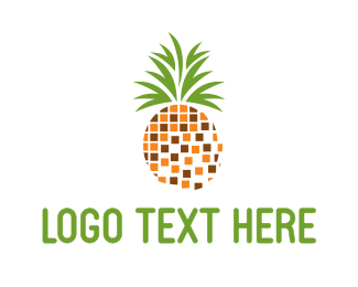 Fruit - Pineapple Pixels logo design