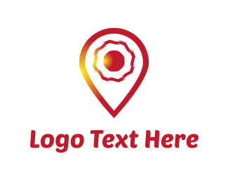 Position - Red Locator logo design