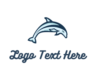 Sea - Dolphin Jumping logo design
