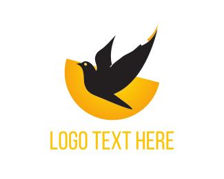 Sunset - Black Bird  logo design