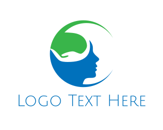 Psychologist - Green Mind logo design