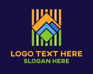 Valley - Geometric Landscape logo design