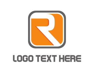 Motor - Modern Letter R  logo design