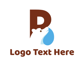 Teddy Bear - Polar Letter B logo design