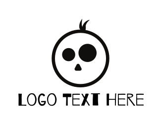 Zombie - Boy Skull logo design