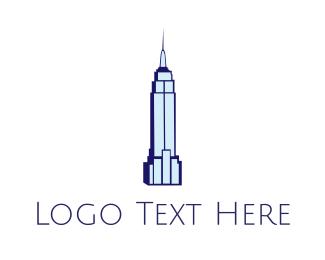 Nyc - Blue Empire State logo design