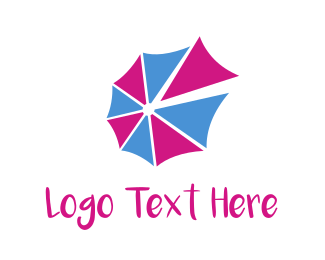 Umbrella - Purple Umbrella logo design