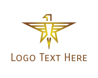 Whiskey - Gold Eagle Star logo design